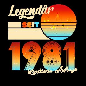 Männer 40. Geburtstag Legendär Seit 1981