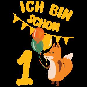 1 Geburtstag Fuchs Luftballons ein Jahr Geschenk