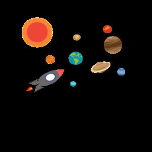 Planeten und Sonnensystem in der Galaxie Weltall