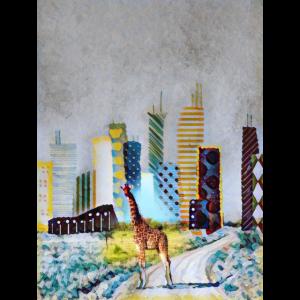 Giraffe im Großstadt Dschungel