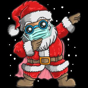 Dabbing Weihnachtsmann Mundschutz Maske Geschenk