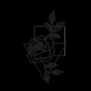 Minimalismus Line Art Kunst Rose