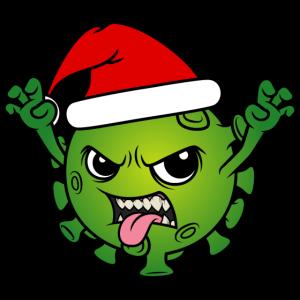 Weihnachten 2020 Corona Virus Weihnachtsmann Santa