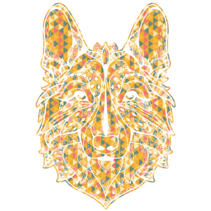German Shepherd Geometric Shirts
