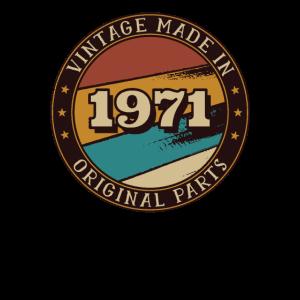 1971 Geburtstag Vintage Geschenkidee