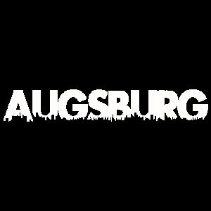 Stadt Augsburg Skyline Schrift