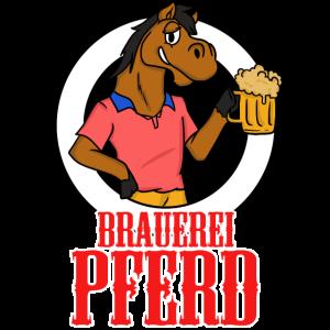 Brauerei Pferd Bier Trinken Saufen Abfeiern Party