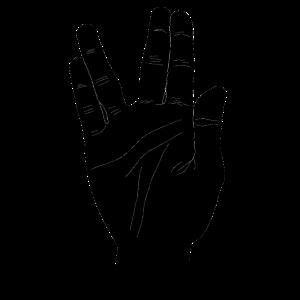 Vulkanier Gruß mit der Hand