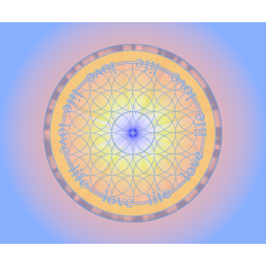 Mandala, Liebe, Blume des Lebens