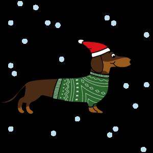 Weihnachten Dackel Dachshund Geschenk