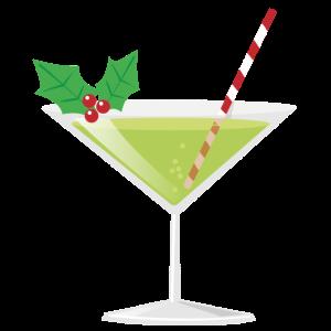 Weihnachten Glas grün