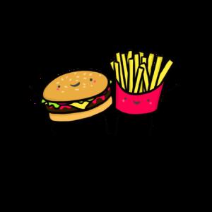 Burger und Pommes Together Print