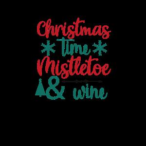Weihnachtszeit, Mistel und Wein - Weihnachtsgeschenk