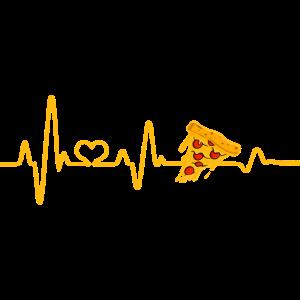 Herzschlag Pizza Pizzaliebhaber Pizzeria Fast Food