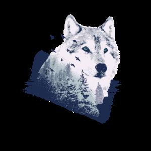 Wolf Motiv Natur Wölfe