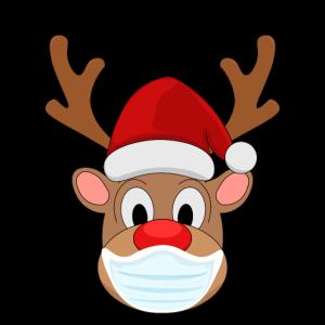 Rentier Mundschutz Kinder Weihnachten Geschenk