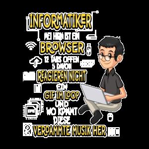 Informatiker Informatik IT Spruch