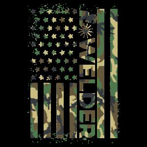 Schweißer Amerikanische Flagge Tarnmuster
