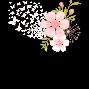 Schmetterling Falter Blumen Blümchen Blumenmotiv