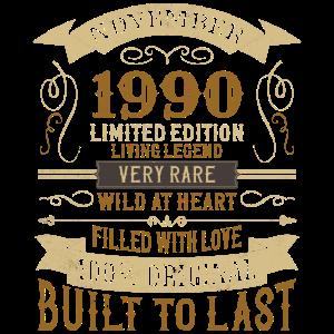 November 1990 30. Geburtstag Vintage Limited