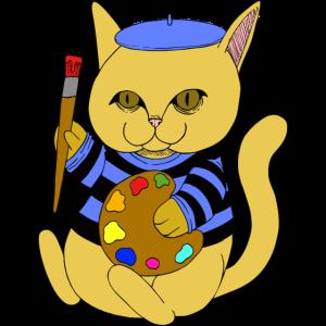 Französiche Katze Portrait Malen Zeichnen