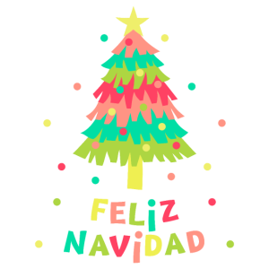 Feliz Navidad Papierbaum Geschenk Lustige Weihnachten