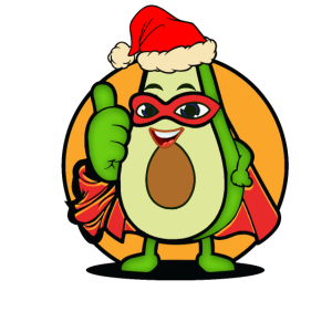 niedliche Avocado in Weihnachts Stimmung