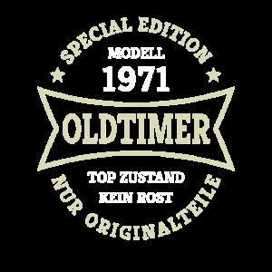 Oldtimer 50. Geburtstag Jahrgang 1971 Geschenkidee