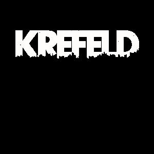 Krefeld meine Stadt - Skyline Schriftzug