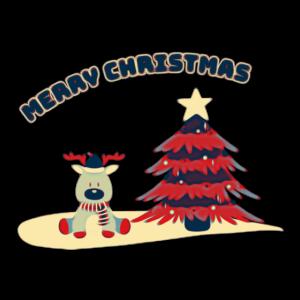 Weihnachtsbaum mit Elch