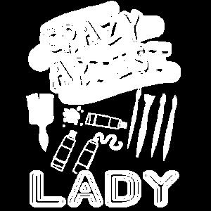 Künstler Crazy Artist Lady