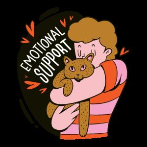 Emotionale Unterstützung eine Katze umarmen