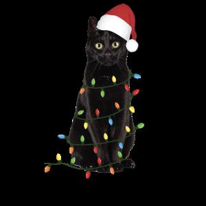 Weihnachten schwarze Katze
