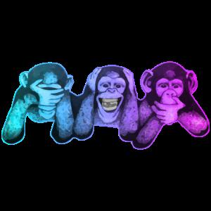 Die drei Affen | 3 Wise Monkeys Weise Affen