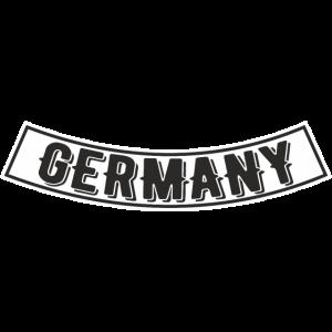 Front oder Rücken Patch Germany Deutschland