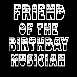 Freund des Geburtstagsmusikers Junge und Mädchen Bday