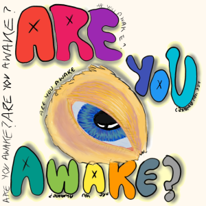 Bist du wach? Surreales Auge