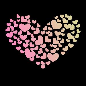 Herz aus Herzchen Liebe Romantisch Jahrestag
