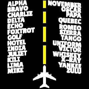 Flugzeug Pilotenalphabet Fliegen