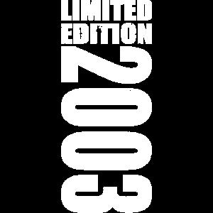 Limited Edition 2003 18. Geburtstag Geschenk