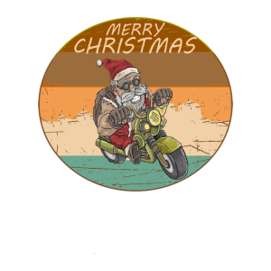 Frohe Weihnachten Vintage Retro-Stil Motorrad