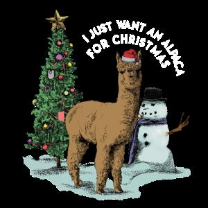 i just want an alpaca for christmas Alpaka