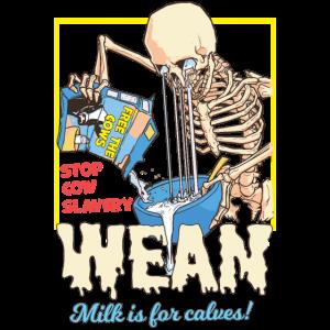 Wean Animal Rights Vegan Cartoon Art