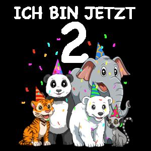 2. Geburtstag Tiere - 2 Jahre Alt Geschenk