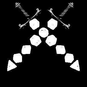 Polyedrisches Würfelschwert-Fantasy-Rollenspiel