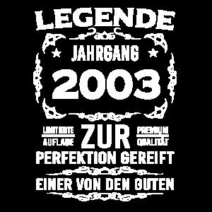 Legende, Jahrgang 2003, zur Perfektion gereift