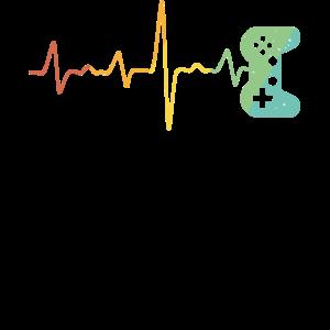 Gamer Controller Herzschlag Frequenz Zocken