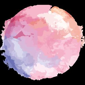 Abstraktes Aquarell Violett/Rosé