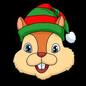 Weihnachten Eichhörnchen Geschenk Eichhörnchen