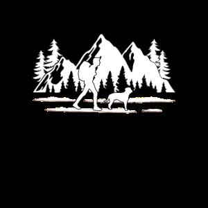 Wandern mit Hund Geschenk Wanderung Berge Wald